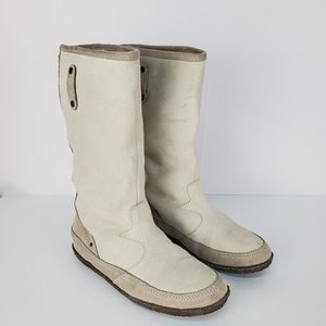 Diesel suede leather boots